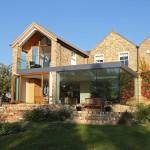contemporary residential extension, grafham