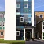 new school entrance at arnold school