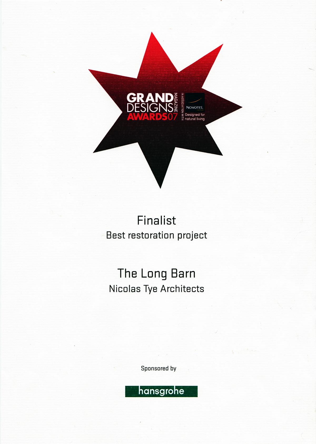 grand designs magazine awards 2007 finalist nicolas tye architects. Black Bedroom Furniture Sets. Home Design Ideas