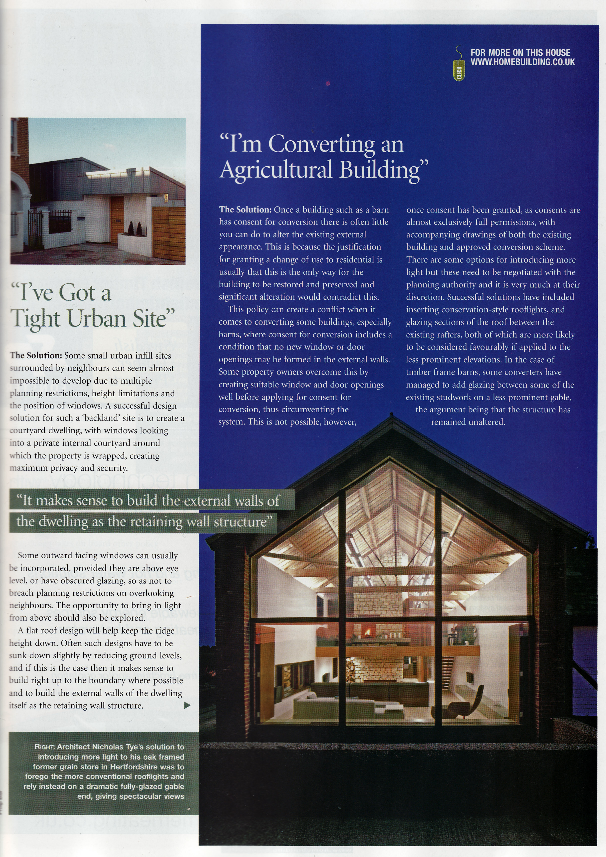 nicolas tye architects architectural design publications london. Black Bedroom Furniture Sets. Home Design Ideas