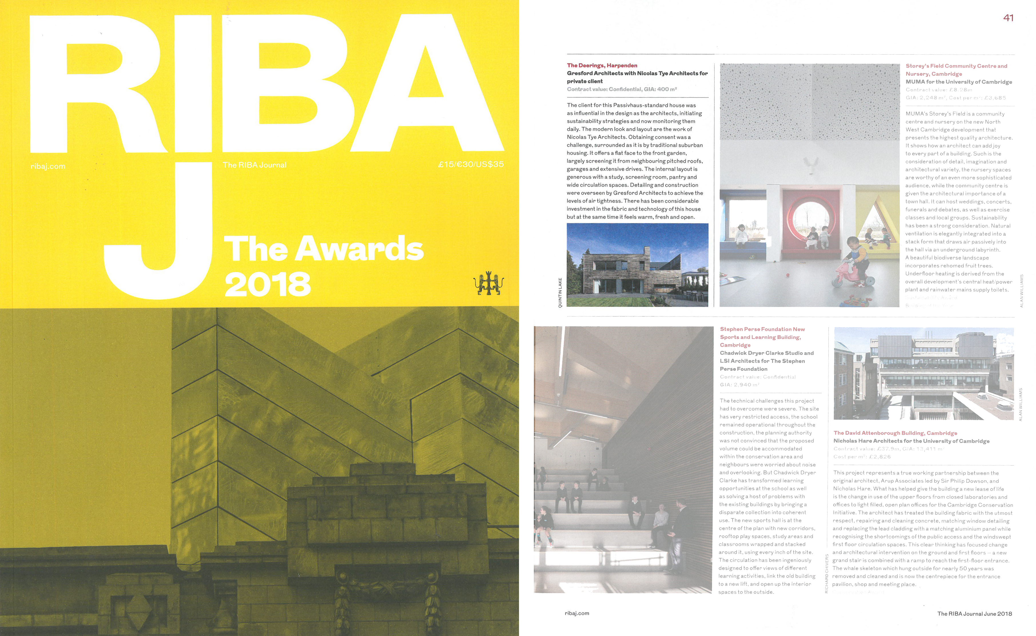 image of winning project listing in RIBA Architectural Awards 2018