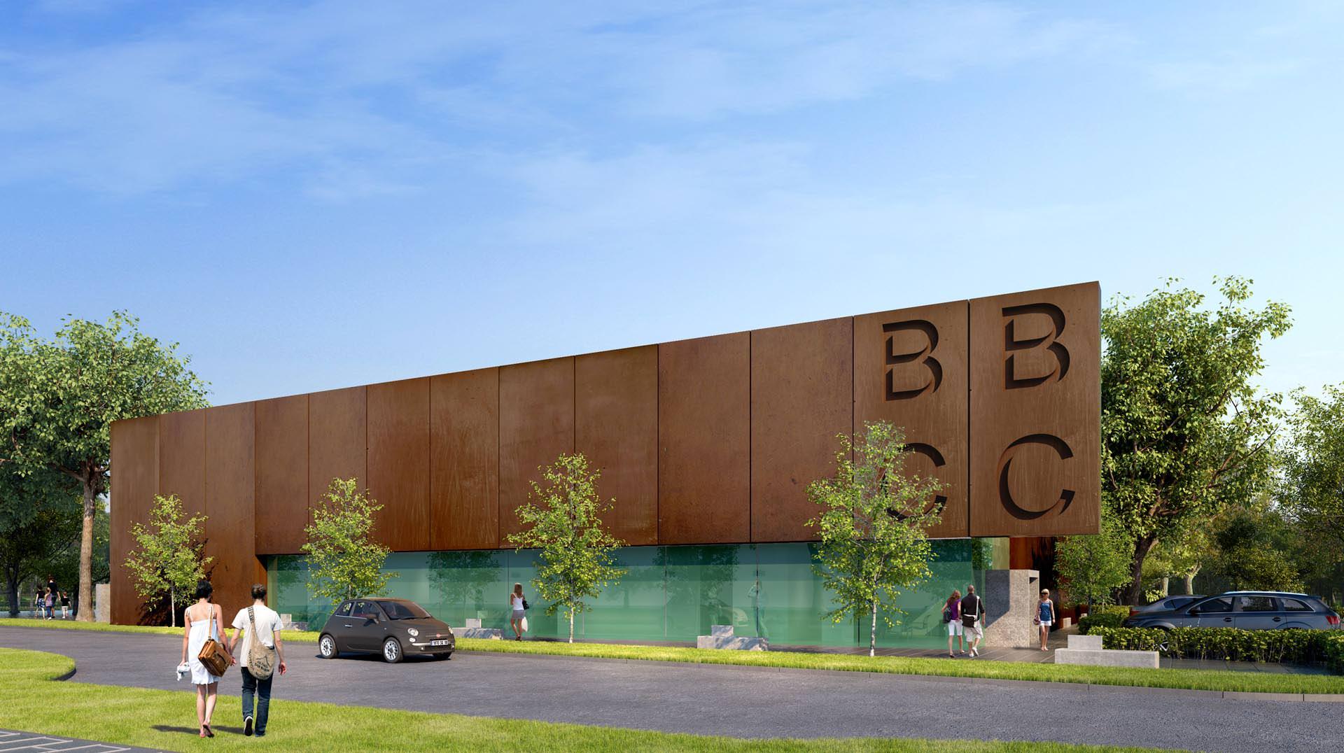 badminton centre front facade