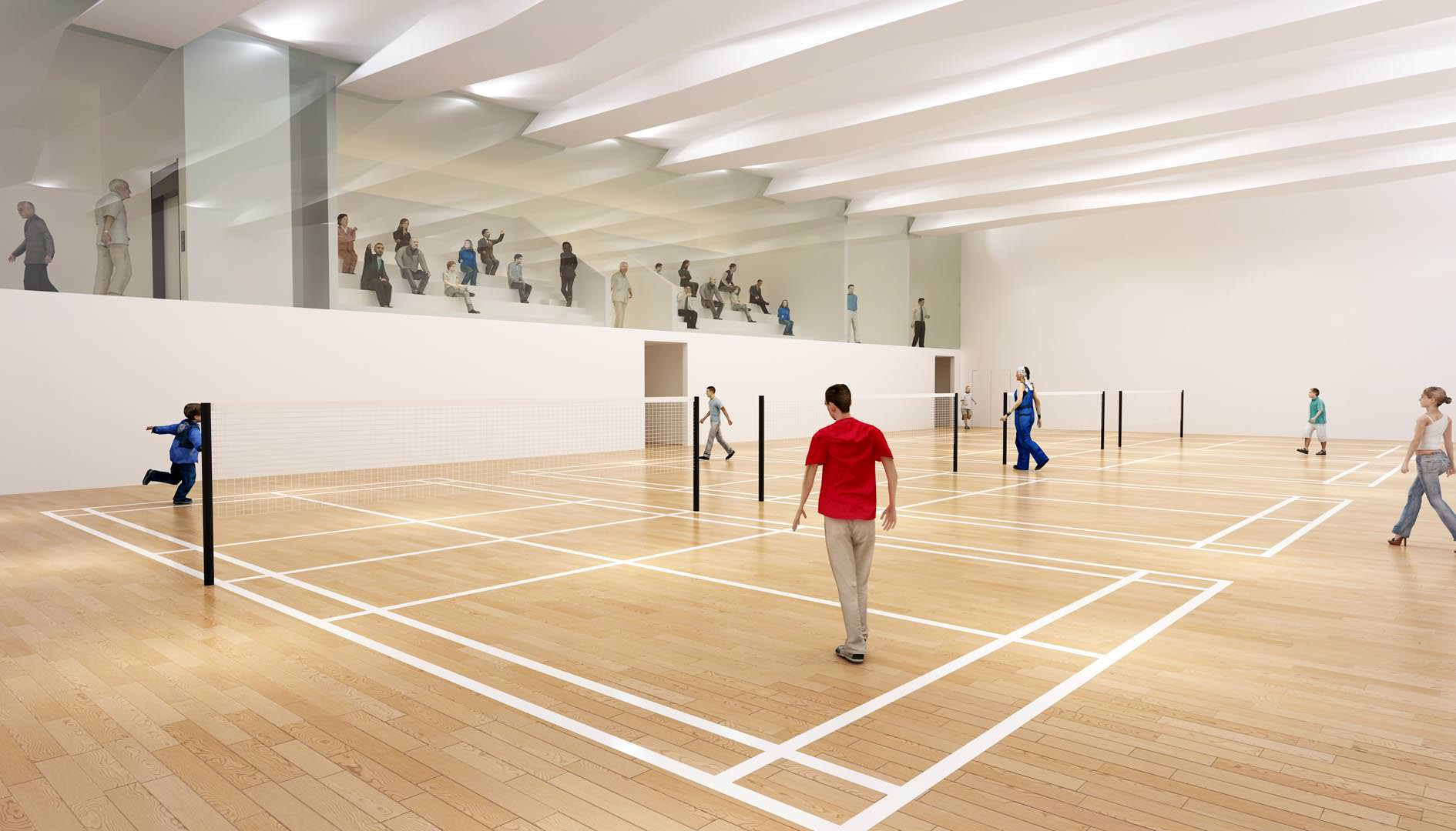 badminton centre internal