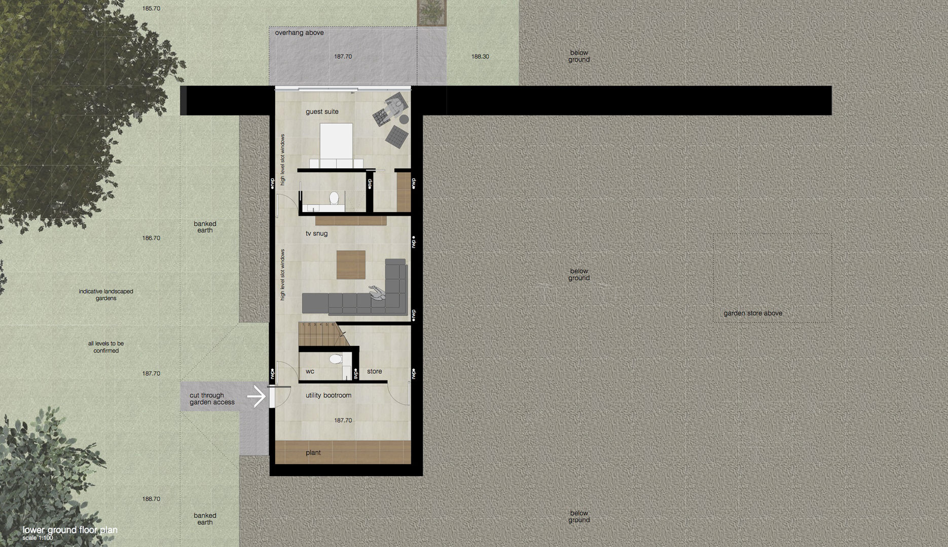 proposed lower ground floor plan