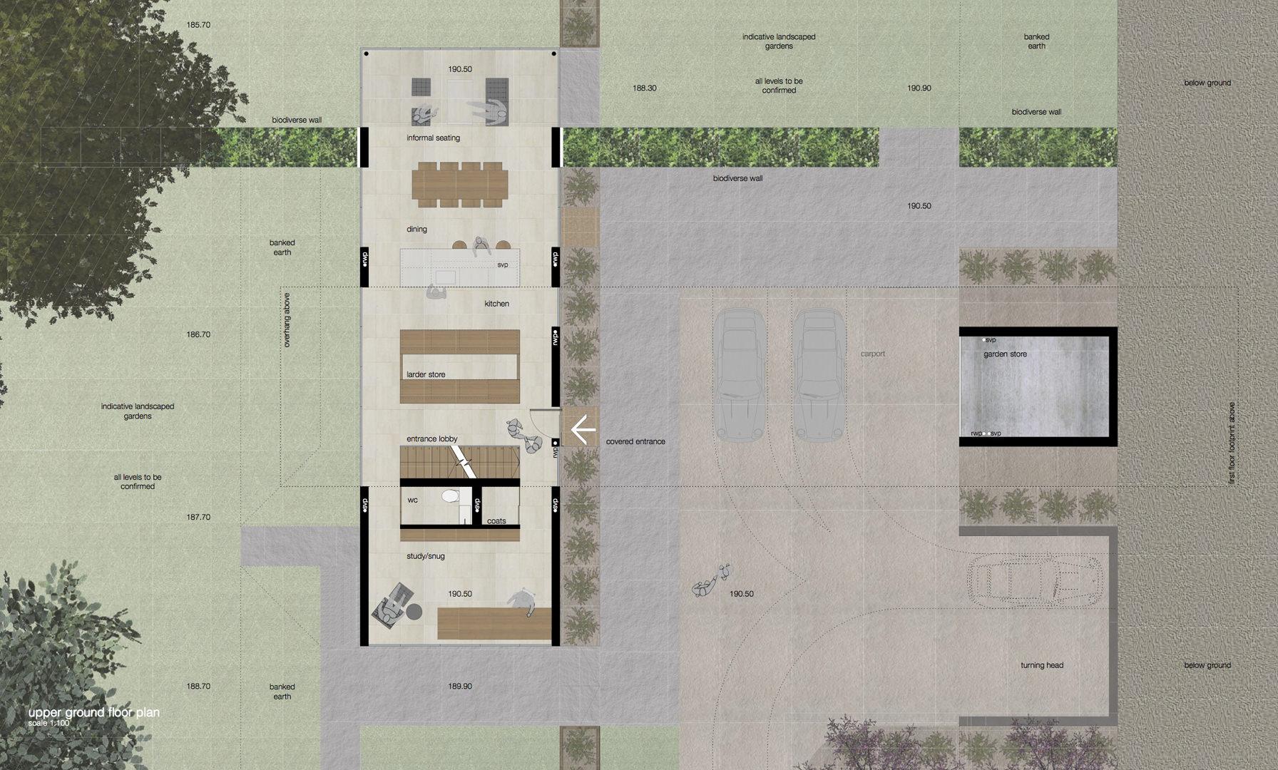 proposed upper ground floor plan