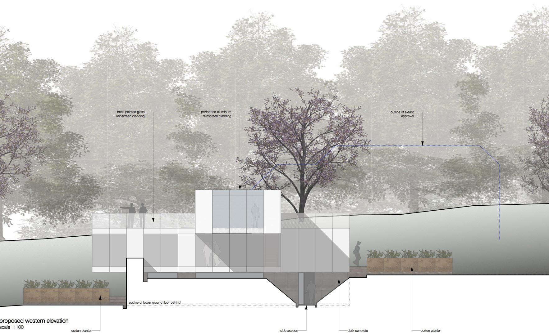 proposed western elevation