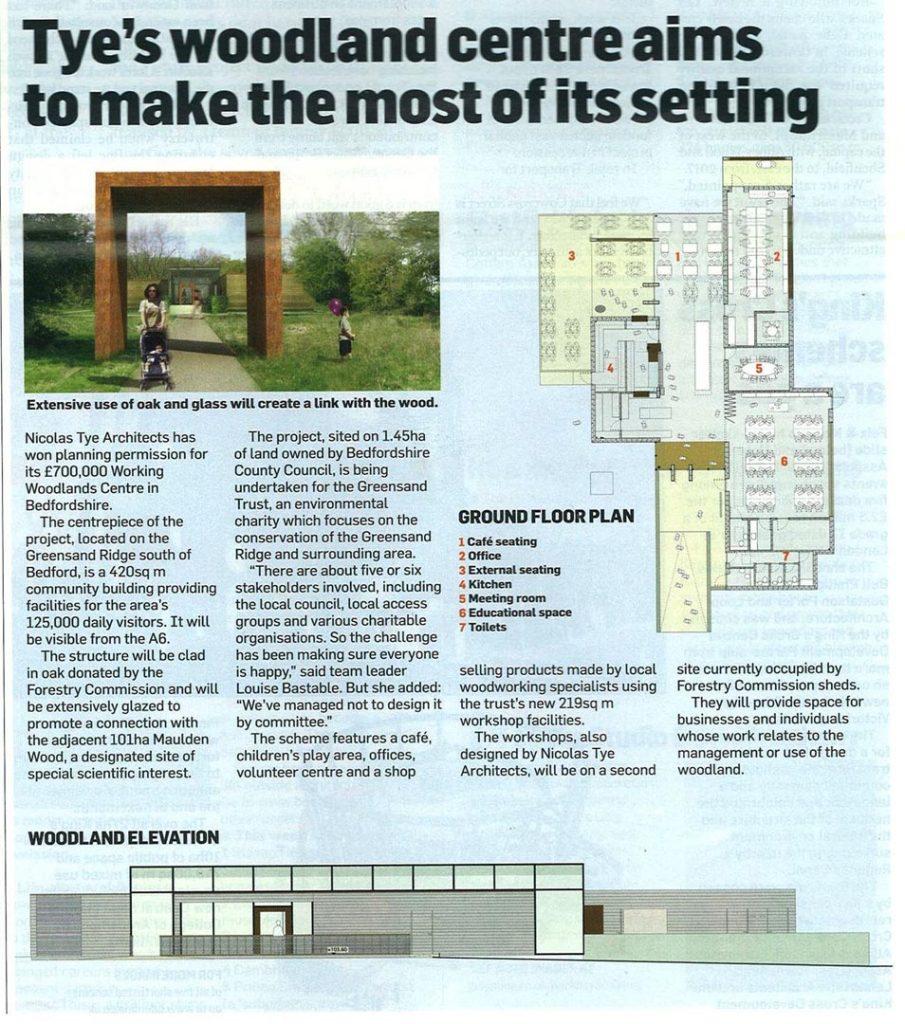 Woodlands Visitor Centre – Building Design