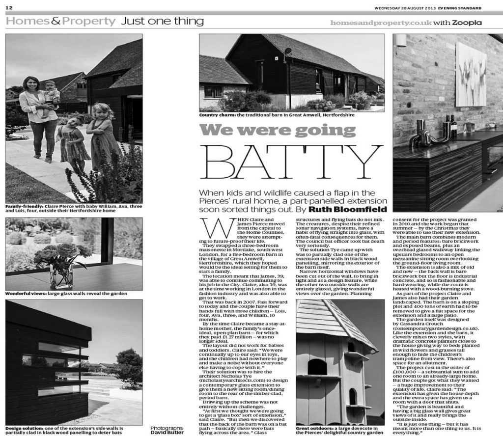 Hertfordshire Barn – Evening Standard London Newspaper