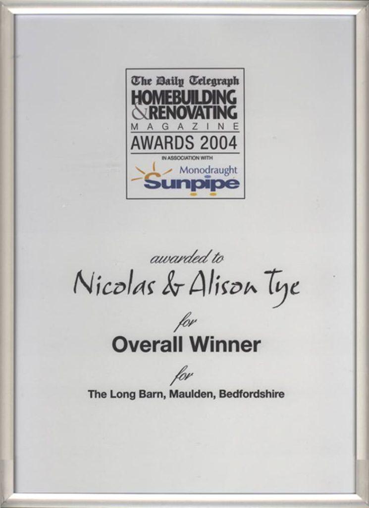 The Long Barn – Homebuilding & Renovation Award 2004