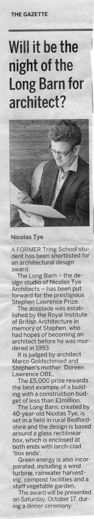 Nicolas Tye – Hertfordshire Gazette