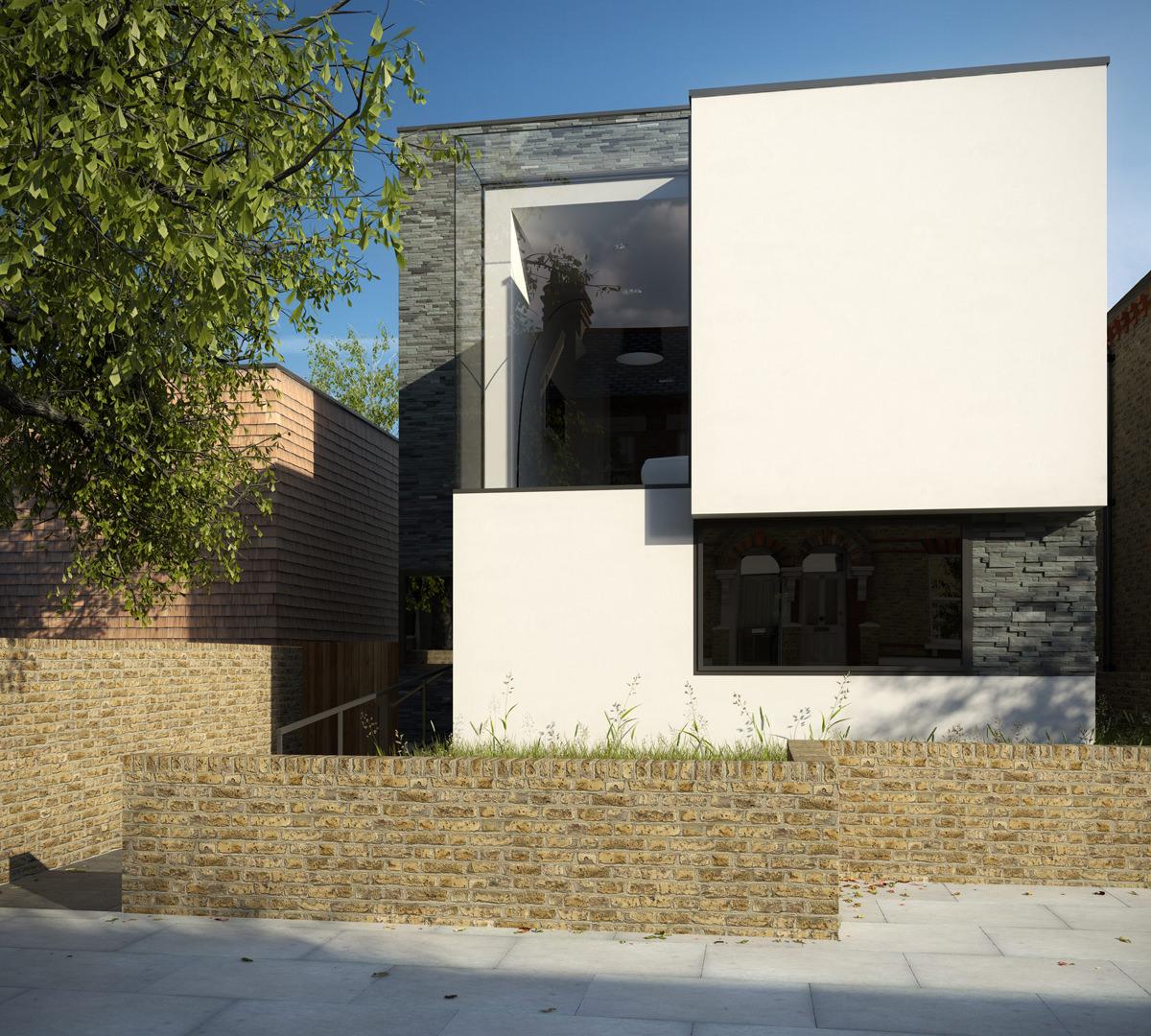 Islington House - exterior-west plot-min