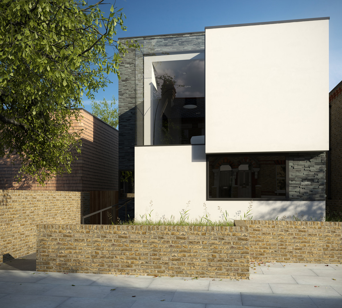 Islington House - exterior-west plot