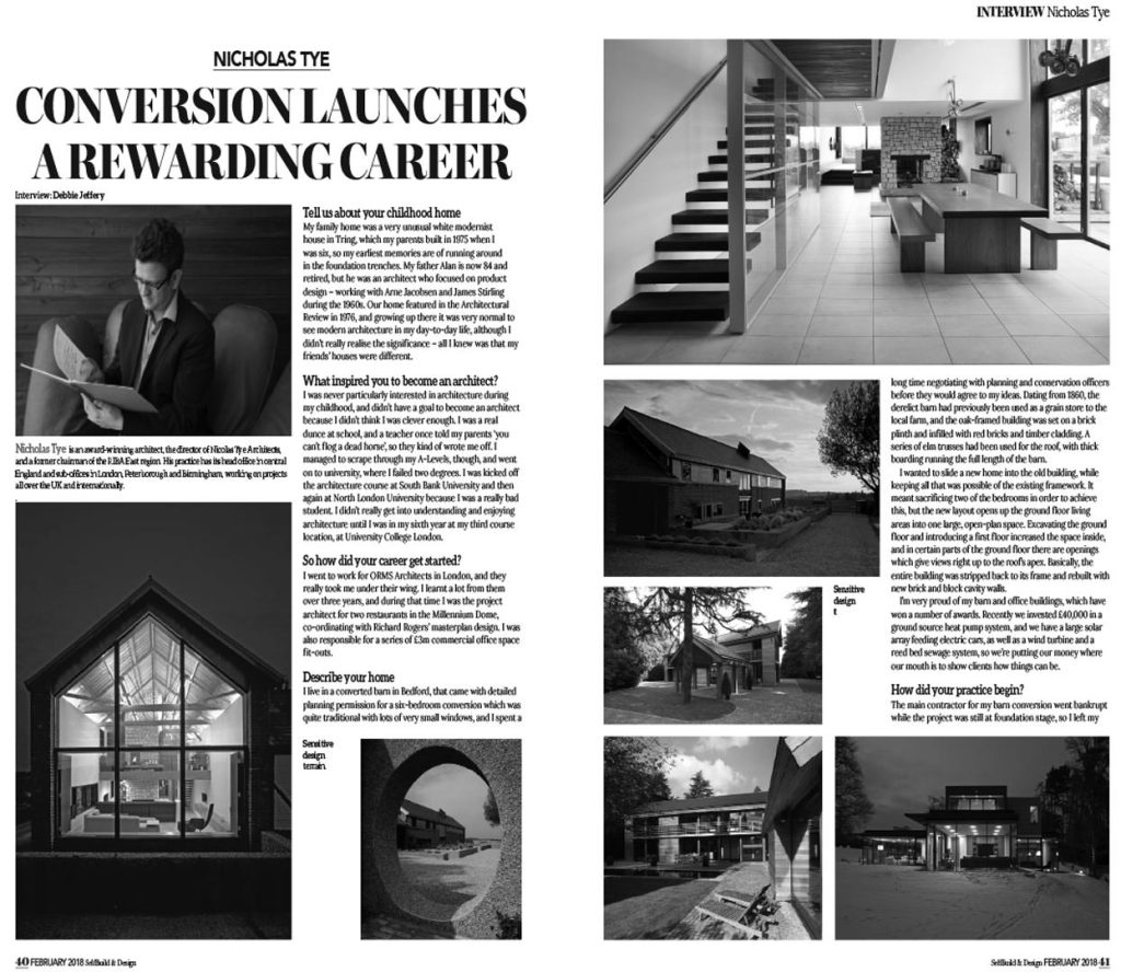 Nicolas Tye – Self Build Magazine