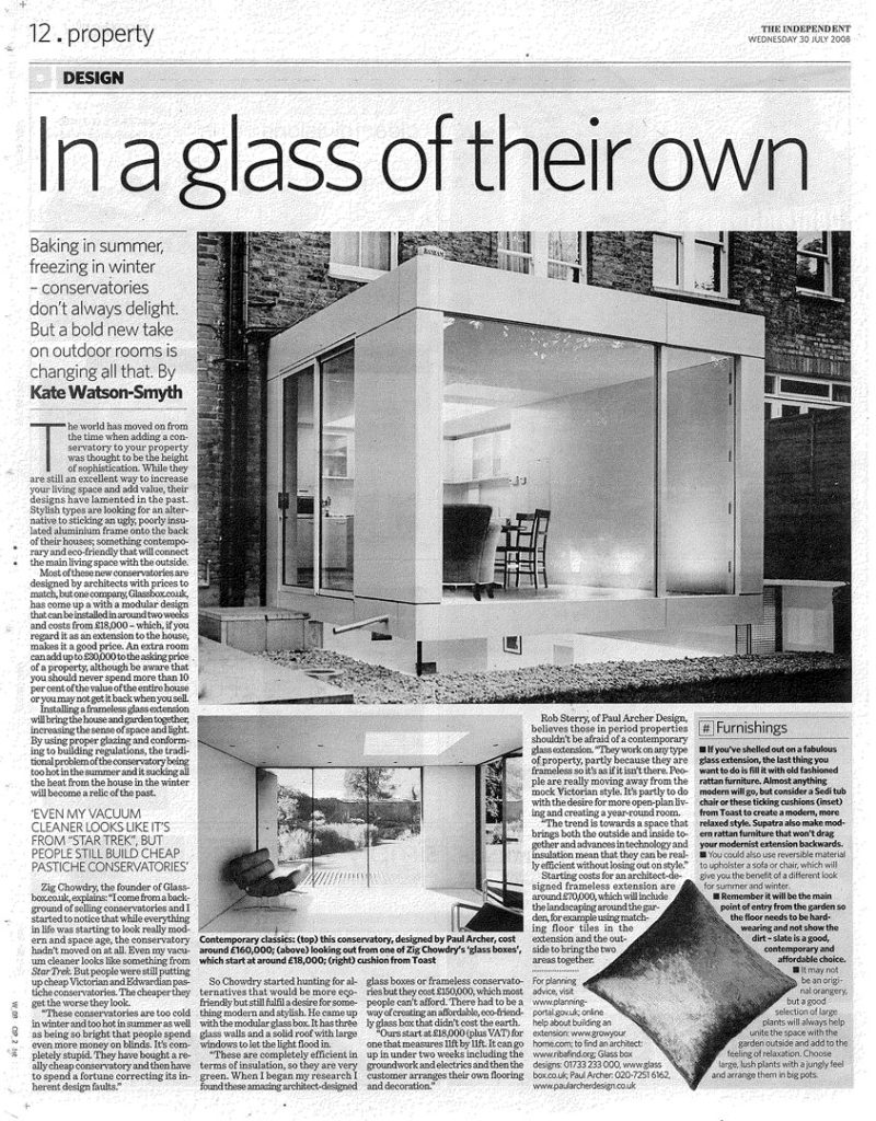 Glass House Extension – The Independent